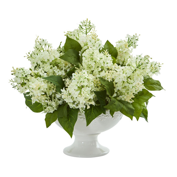 Lilac Artificial Arrangement in White Vase - SKU #1638 - 1
