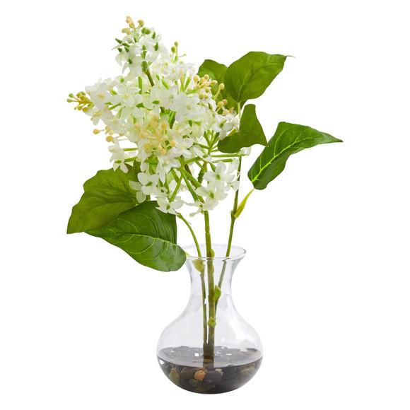 Lilac Artificial Arrangement in Vase Set of 3 - SKU #1667-S3 - 1