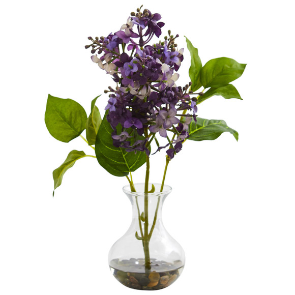 Lilac Artificial Arrangement in Vase Set of 3 - SKU #1667-S3 - 2
