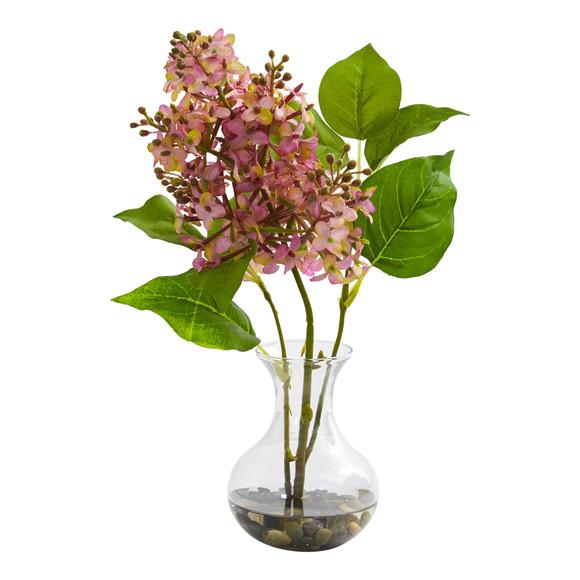 Lilac Artificial Arrangement in Vase Set of 3 - SKU #1667-S3 - 3