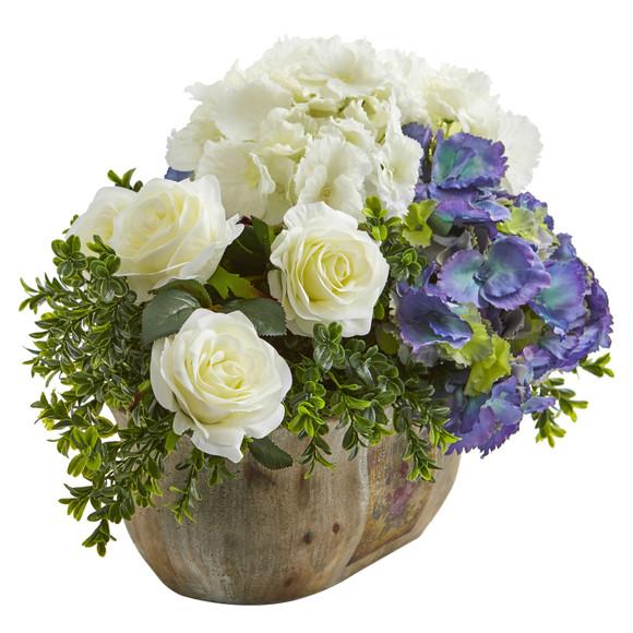 Rose and Hydrangea Artificial Arrangement - SKU #1702 - 2
