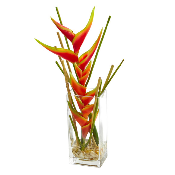Mini Heliconia Artificial Arrangement - SKU #1742
