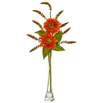 Sunflower Berry Artificial Arrangement - SKU #1744-OR