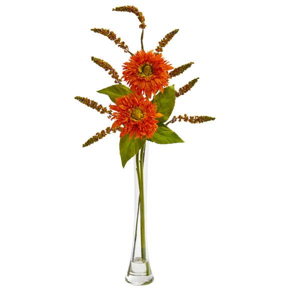 Sunflower Berry Artificial Arrangement - SKU #1744-OR