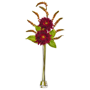 Sunflower Berry Artificial Arrangement - SKU #1744