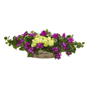 35 Rose Bougainvillea Artificial Arrangement - SKU #1761