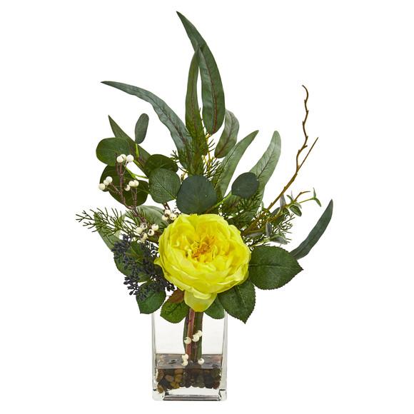 21 Rose and Eucalyptus Artificial Arrangement - SKU #1765 - 3