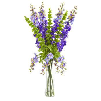 34 Delphinium and Bell of Ireland Artificial Arrangement - SKU #1775-PP