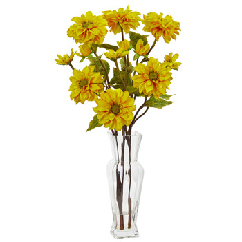 Zinnia Artificial Arrangement - SKU #1784