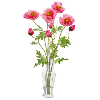 26 Poppy Artificial Arrangement - SKU #1785