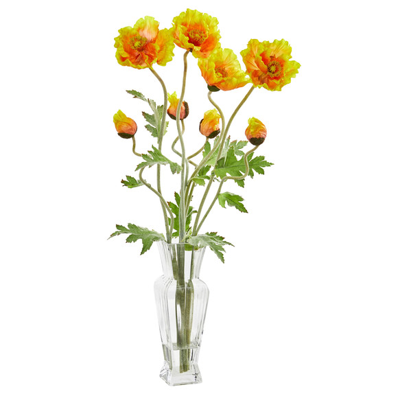 26 Poppy Artificial Arrangement - SKU #1785 - 1