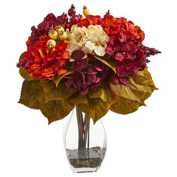 Autumn Hydrangea Berry Artificial Arrangement - SKU #1790