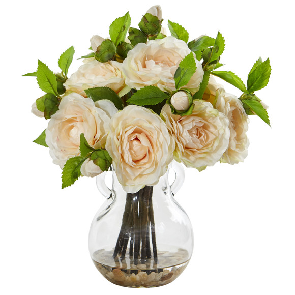 Camellia Artificial Arrangement in Vase - SKU #1806 - 2