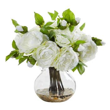 Camellia Artificial Arrangement in Vase - SKU #1806