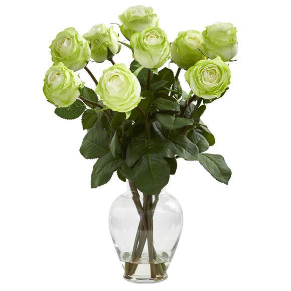 19 Rose Artificial Arrangement in Glass Vase - SKU #1811 - 3