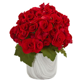 Begonia Artificial Arrangement in Vase - SKU #1832-RD