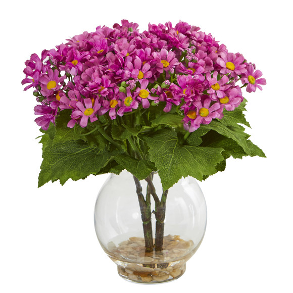 Daisy Artificial Arrangement in Fluted Vase - SKU #1839 - 2