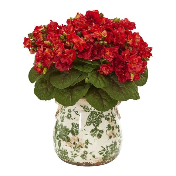 Violet Artificial Arrangement in Floral Design Vase - SKU #1853-RD