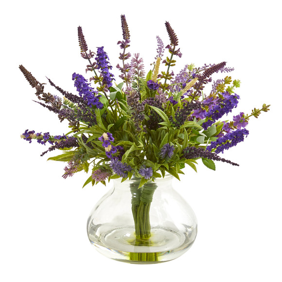 Lavender Bouquet Artificial Arrangement in Vase - SKU #1939