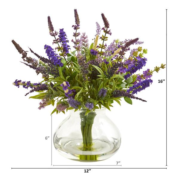 Lavender Bouquet Artificial Arrangement in Vase - SKU #1939 - 1