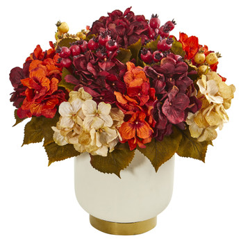 Autumn Hydrangea Berry Artificial Arrangement - SKU #1946