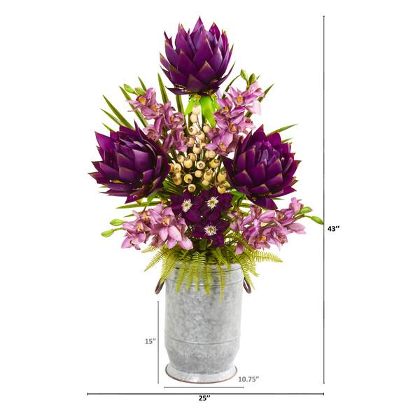 43 Mixed Floral and Orchid Artificial Arrangement - SKU #1990 - 1