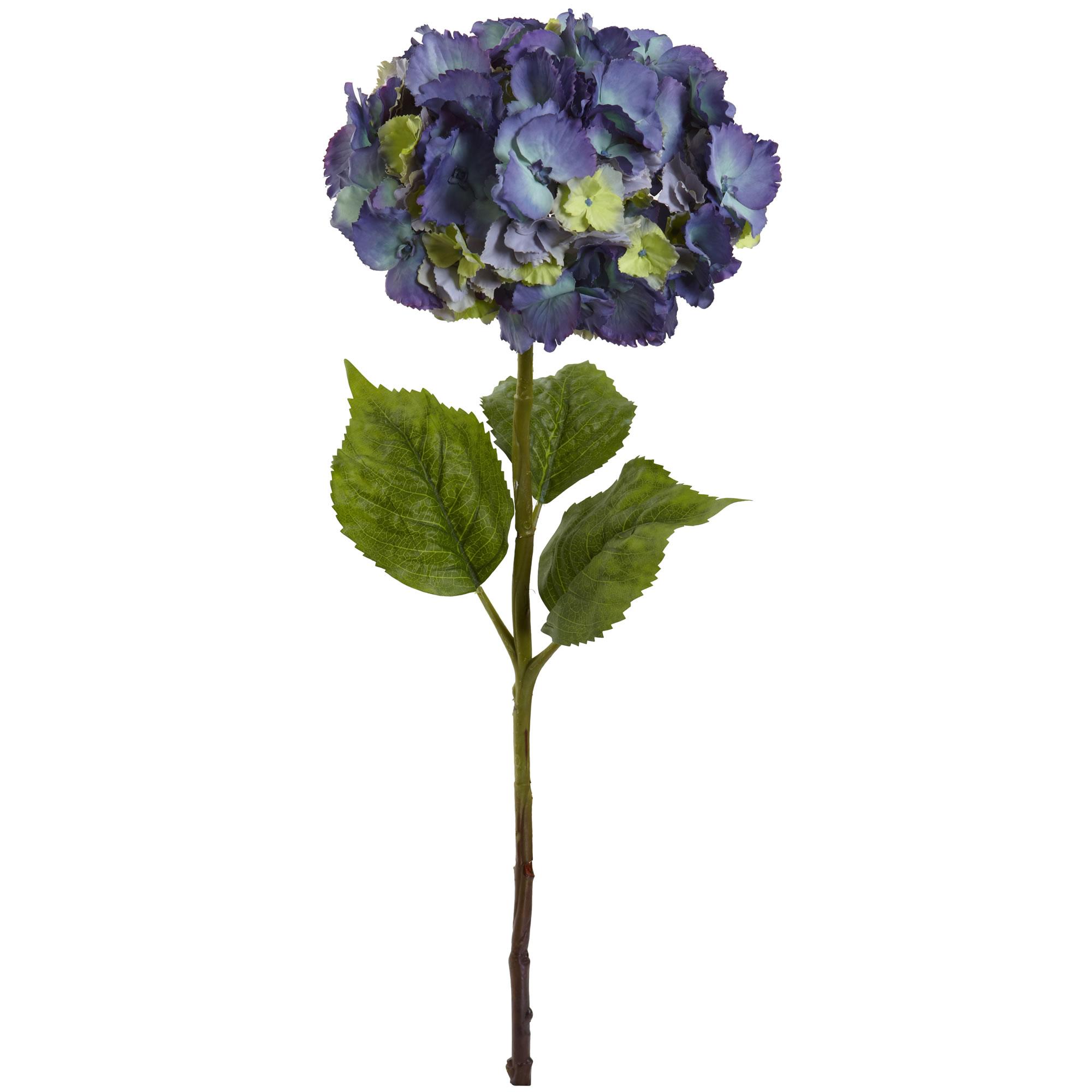 Set Of 3 Artificial 28 Hydrangea Silk Flowers Individual Single