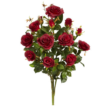 28 Garden Rose Artificial Plant Set of 2 - SKU #2163-S2