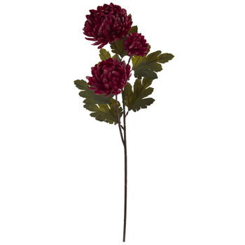 29 Chrysanthemum Artificial Flower Set of 12 - SKU #2222-S12