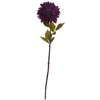 28 Dahlia Artificial Flower Set of 6 - SKU #2229-S6