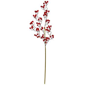 35 Berry Spray Artificial Flower Set of 6 - SKU #2242-S6