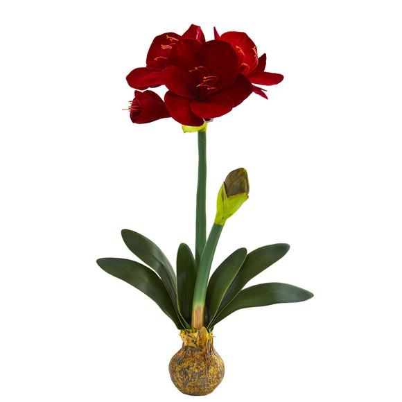25 Amaryllis Artificial Flower Set of 2 - SKU #2243-S2 - 1