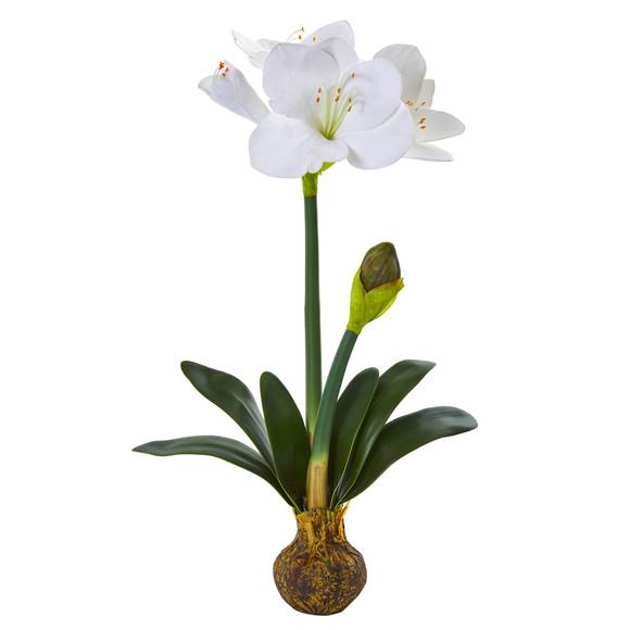25 Amaryllis Artificial Flower Set of 2 - SKU #2243-S2 - 2