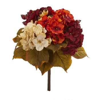 16 Autumn Hydrangea Berry Bouquet Artificial Flower Set of 2 - SKU #2245-S2