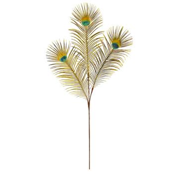 36 Peacock Feather Artificial Spray Set of 8 - SKU #2248-S8