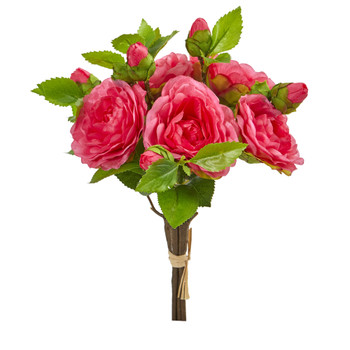 11 Camellia Artificial Flower Bouquet Set of 4 - SKU #2253-S4