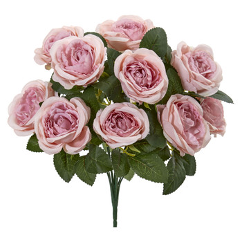14 Rose Bush Artificial Flower Set of 6 - SKU #2257-S6
