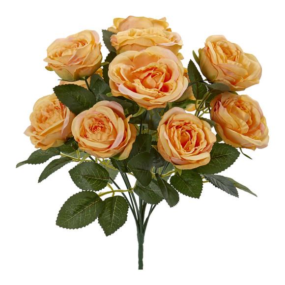 14 Rose Bush Artificial Flower Set of 6 - SKU #2257-S6 - 1