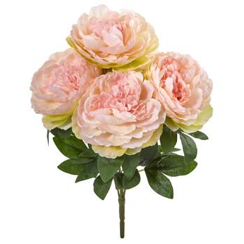 17 Peony Artificial Flower Bouquet Set of 6 - SKU #2259-S6-PK
