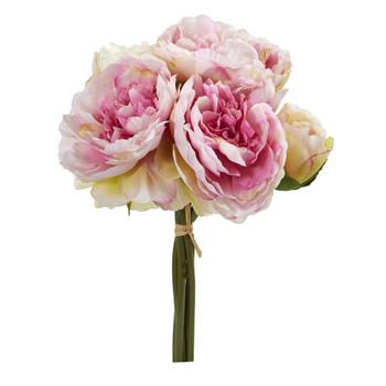 Peony Bouquet Artificial Flower Set of 6 - SKU #2260-S6