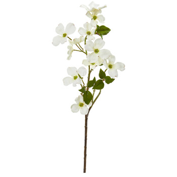 26 Dogwood Artificial Flower Set of 12 - SKU #2276-S12