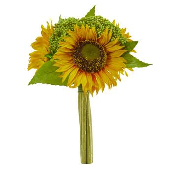 12 Sunflower Bundle Artificial Flower Set of 3 - SKU #2278-S3