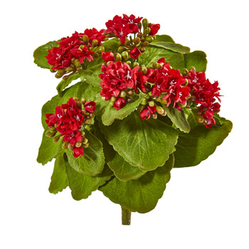 8 Kalanchoe Artificial Bush Flower Set of 6 - SKU #2282-S6