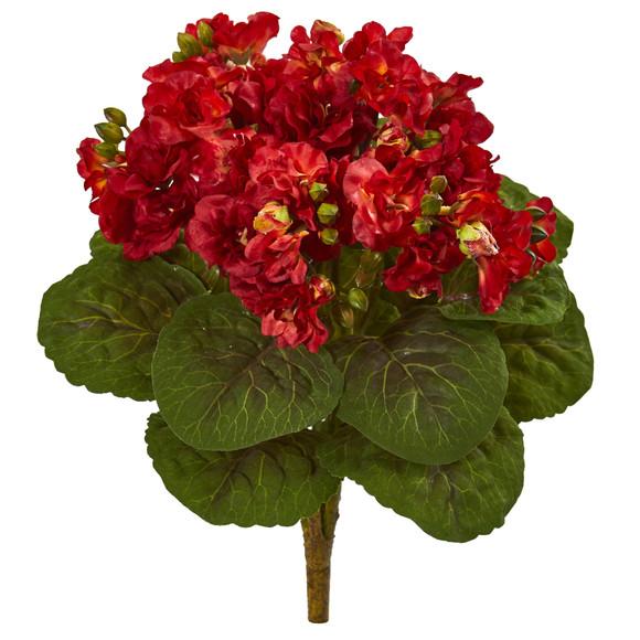 12 Violet Bush Artificial Flower Set of 4 - SKU #2284-S4-RD