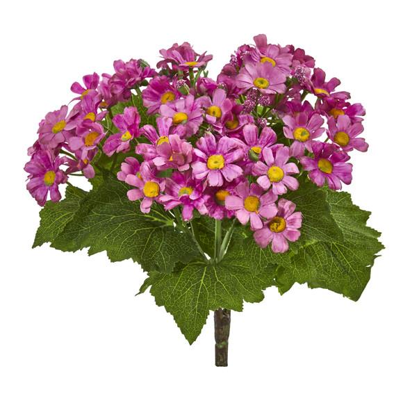 Daisy Bush Artificial Flower Set of 6 - SKU #2287-S6 - 2