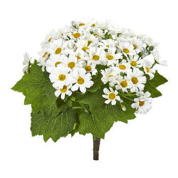 Daisy Bush Artificial Flower Set of 6 - SKU #2287-S6