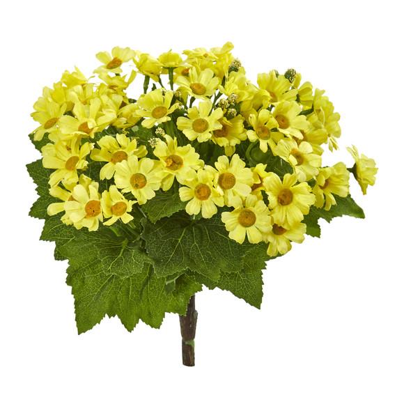 Daisy Bush Artificial Flower Set of 6 - SKU #2287-S6 - 1