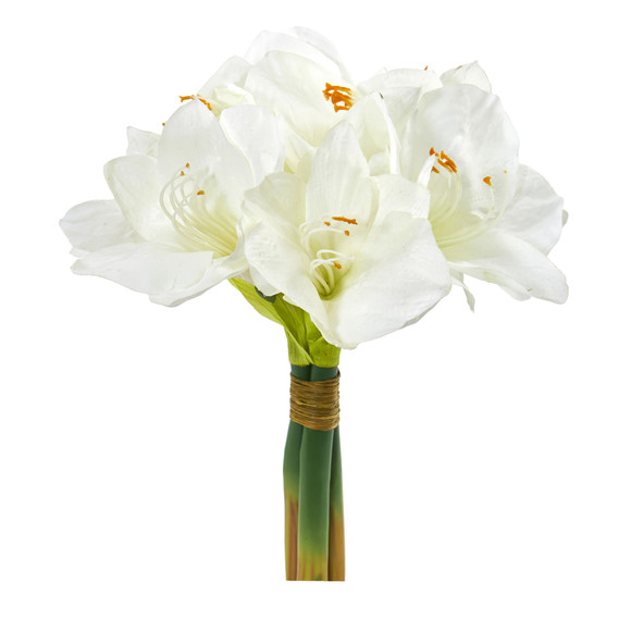 14 Amaryllis Bouquet Artificial Flower Set of 3 - SKU #2288-S3 - 1