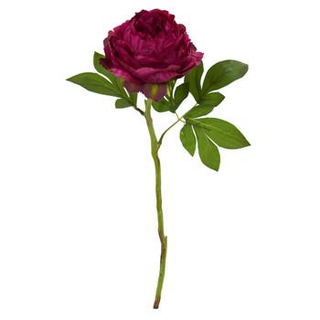 19 Peony Artificial Flower Set of 6 - SKU #2289-S6