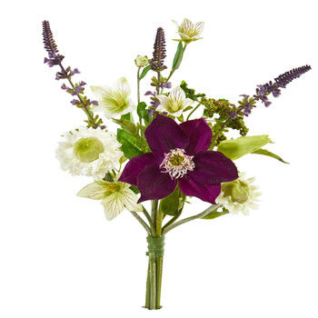 16 Mixed Artificial Flower Bouquet Set of 6 - SKU #2291-S6